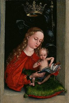 "Martin Schongauer  ""Madonna and Child in a Window"""