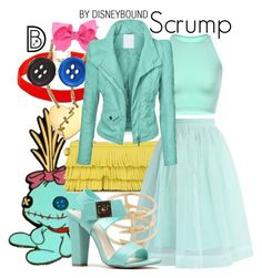 Scrump by leslieakay on Polyvore featuring polyvore, mode, style, Retrò, Avalaya, Chicwish, Marc by Marc Jacobs, disney, disneybound and disneycharacter