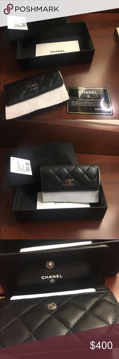 NWT/box/dust bag Authentic Chanel card case chanel a50169y01480 card holder c3906  Authentic caviar card case wallet with silver logo hardware-with box, dust bag,tag, card of authenticity   Brand: Chanel Style: Wallet Type: Card Case Material: Caviar leather Color: Black with silver hardware Condition: New with original packaging CHANEL Bags Wallets