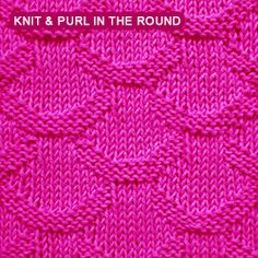 [Knit and purl stitch in the round] Scale stitch pattern
