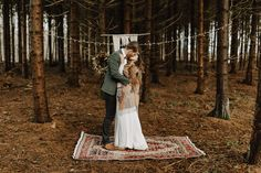 Elopement im Wald Bohemian, Bridal, Wedding, Style, Fashion, Woodland Forest, Valentines Day Weddings, Swag, Moda