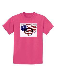 TooLoud My Heart Berns - Sanders 2016 Childrens Dark T-Shirt