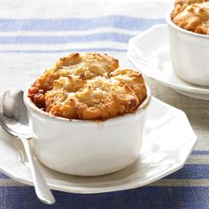 Keep ground beef and homemade tomato sauce in your freezer (or use best-quality jarred sauce) for a biscuit-topped Italian rendition of shepherd's pie.