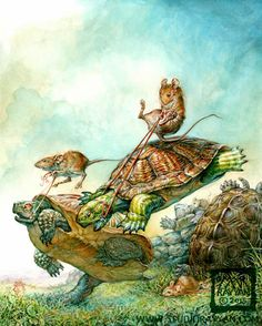 Etsy の Turtle Race print by StudioRayyan