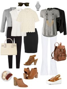 Ensemble: Cream, Black & Cognac - YLF