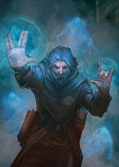 Artwork of wizards, mages, sorcerers, druids and all other types of magic wielders. Fantasy Wizard, Fantasy Male, High Fantasy, Fantasy Rpg, Medieval Fantasy, Dnd Wizard, Dungeons And Dragons Characters, Dnd Characters, Fantasy Characters