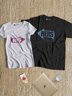 dd68a5dd5 His Till Infinity, Her's Till Infinity Round Neck Couple T-Shirts - When two