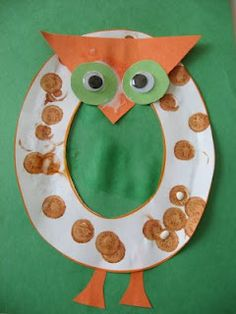 Letter Of The Week O for Owl Pre K Craft