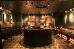 Zebra Bar, aptly named due to the large zebra mural on the wall, is a great nook for an intimate tipple. Checked black and white-tiled floors, a dark green marble bar and gold accents add to the yesteryear feel.