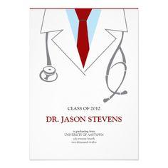 male doctor graduation invitation medical school medical school
