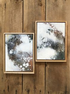 Original encaustic paintings by Tamara Lepianka. Encaustic medium and mixed media on wood panel. This is a matched pair sold as a set. Each painting is: 9 x 12 x .75 in | 22.8 x 30.4 x 1.9 cm The paintings are mounted in solid maple Ampersand float frames and ready to hang. $388.00 Abstract Expressionism, Abstract Art, Original Paintings, Original Art, Encaustic Painting, Floating Frame, Wood Paneling, Wood Art, Buy Art