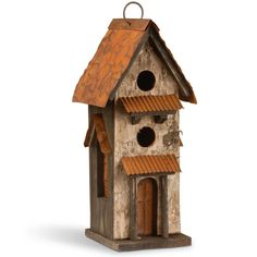 12.6 in. Bird House, Browns/Tans