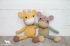 Giraffe Crochet Pattern Amigurumi Giraffe by TheFriendlyRedFox