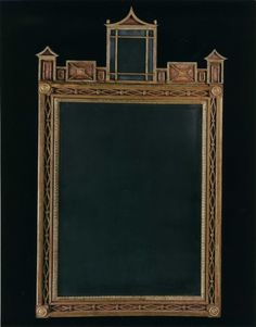 Probably from the Piedmont region in italy, this mirror exhibits the angular, geometric style of Italian chinoiserie design. Circa 1820.