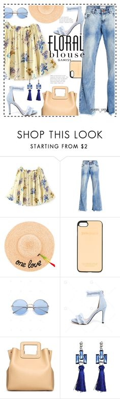 """Summer Floral Blouse"" by goreti ❤ liked on Polyvore featuring OneTeaspoon, Hat Attack and Palm Angels"