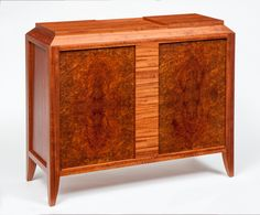 Marquetry Magnetism: Craig Thibodeau's New Puzzle Cabinet New Puzzle, Puzzle Box, Secret Compartment, Studio Furniture, Art Deco Period, Marquetry, Puzzle Pieces, Furniture Styles, Woodworking