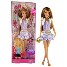 Year 2007 Barbie Fashion Fever Series 12 Inch Doll - SUMMER in White Jacket with Purple Top and Mini Skirt Plus Purse and Hairbrush New Barbie Dolls, Barbie 2000, Fever Series, Barbie Collection, Hair Brush, Childhood Memories, Mini Skirts, Purses, 2000s
