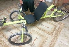 Posts about homemade tadpole trikes written by Steve Newbauer Recumbent Bicycle, Pedal Cars, Go Kart, Loose Weight, Homemade, Vehicles, Bike Ideas, Side View, Fork