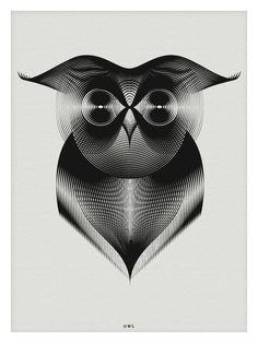 Animals in Moiré by Andrea Minini #ilustracion