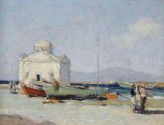 Ο Γεώργιος Δ. Κοσμαδόπουλος (Βόλος, 1895 – Αθήνα (;), 1967) ήταν έλληνας ιμπρεσιονιστής ζωγράφος. Church on the coast,Mykonos