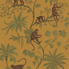 does anyone know if there is a name for this sort of antique jungle animal print wallpaper?