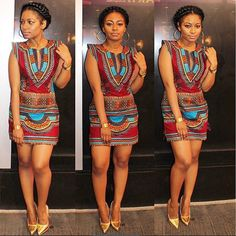 African Traditional Culture Dashiki Mini Dress