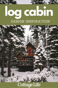 You have to see inside this dreamy log cabin. #logcabin #design #homedesign #interiordesign #hygge #cozyaesthetic #homedecor #bedroomideas #livingroomideas #CottageLife Cottage In The Woods, Lake Cottage, Cottage Homes, Cottage Design, Cottage Style, House Design, Cabins And Cottages, Beach Cottages, Log Cabin Designs