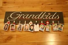"""My sister-in-law did this and it was adorable. Can use with any word """"Family"""" """"Kids"""" """"Friends"""" Etc"""