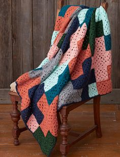 Ravelry: Life's A Plus Afghan pattern by Caron Design Team