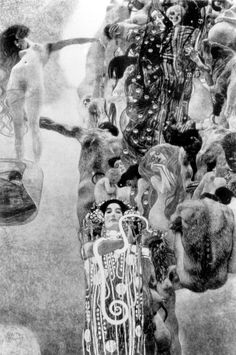 "Gustav Klimt ""Medicine"" (1899-1907): painted for the University of Vienna. Destroyed in May 1945 by retreating SS forces."