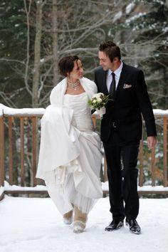 Nicole Alexandra Designs - Winter wedding, bride with #Uggs