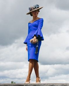 Aqua Blue Dress, Blue Dresses, Race Wear, Wedding Guest Looks, Cocktail Outfit, Races Fashion, Outfits With Hats, Evening Dresses, Gowns