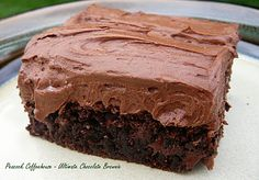 Ultimate Chocolate Brownie. (scroll down page)