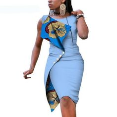 New Fashion African Dresses for Women Sexy Sleeveless Bazin Riche African Print Cotton Dress Lady Elegant Party Dresses Item Type: Africa Clothing Material: Cotton Type: Kanga Clothing Care: Dry Clean Size: African Dress Patterns, African Print Dresses, African Print Fashion, Africa Fashion, Tribal Fashion, African Prints, African Fabric, Latest African Fashion Dresses, African Dresses For Women