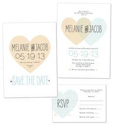 cute heart printable wedding invitation