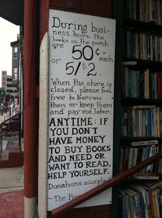 These Book Stores Rock! ;) I bring free books to add to the pile every chance I can ;)