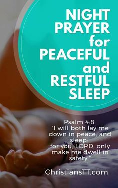 Prayers and Bible verses for evening and bedtime, for peaceful sleep and relaxation. Oh Heavenly Father, as I lay my head down to sleep, I ask for your Good Night Prayer, Prayer For Peace, God Prayer, Power Of Prayer, Daily Prayer, Good Night Quotes, Prayer Scriptures, Bible Prayers, Bible Verses