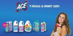 Ace ti regala la Bennet Card: carte regalo da 5 euro in omaggio