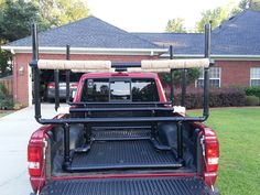 Kayak Accessories Homemade It is all about getting there. Had to create a rack for two 10 foot kayaks on a Ford Ranger. Copied idea from other PVC racks. Have a fill tube on this one to weigh down the rack and a plug to drain the water when done. Kayak Camping, Truck Camping, Canoe And Kayak, Kayak Fishing, Camping List, Fishing Tips, Accessoires Kayak, Kayak Rack For Truck, Kayak Holder