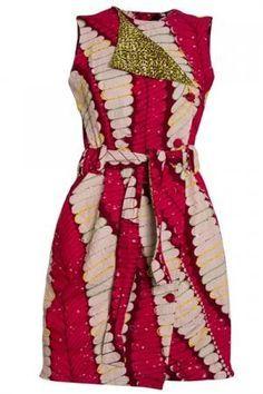 Wrap Ankara Dress with Green Embellishments African Inspired Fashion, African Print Fashion, Africa Fashion, Fashion Prints, African Print Dresses, African Fashion Dresses, African Dress, Nigerian Fashion, Ghanaian Fashion