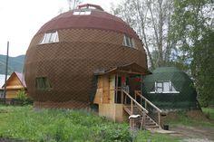 maison bulle géodésique russie