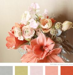 Coral and gray – love the palette!