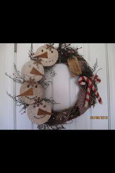 Snowmen primitive Christmas