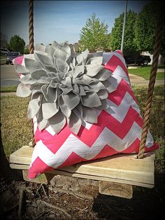 http://www.etsy.com/listing/128545355/hot-pink-chevron-pillow-cover-with-grey