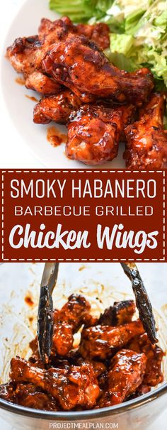 Smoky Habanero Barbecue Grilled Chicken Wings Smoky Habanero Barbecue Grilled Chicken Wings recipe – Crispy barbecue grilled wings smothered in smoky hot tangy habanero BBQ sauce! Grilled Chicken Wings, Grilled Chicken Recipes, Best Chicken Recipes, Grilled Meat, Pork Rib Recipes, Barbecue Recipes, Grilling Recipes, Vegetarian Grilling, Chicken