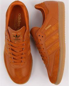 size 40 2dff0 4ea7d Adidas Samba Trainers Burnt Orange, Craft Ochre - adidas At 80sCC