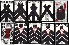 Kabufuda playing cards manufactured by Nintendo, Japan