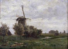 Windmill. Netherlands  Carlos de Haes