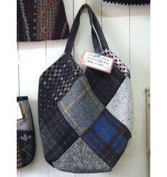 ウールのパッチワークでつくる 簡単バッグ【レシピ】 - かわいい布 ...