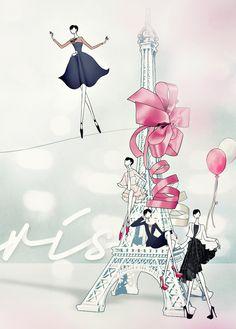 Draw_A_Dot_Paris FW13 - JSK Fashion Illustration